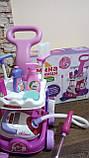 Набор детский для уборки с пылесосом, щетка, совок, звук, фото 8