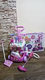 Набор детский для уборки с пылесосом, щетка, совок, звук, фото 9