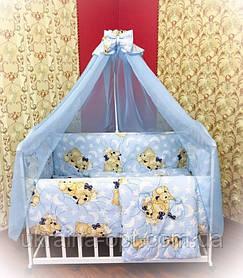 Детский комплект в кроватку 9в1 Мишки спят, комплект в кроватку, набор в кроватку