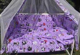 Комплект в кроватку с 9 элементов, бортики в кроватку, набор в кроватку