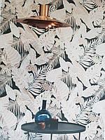 Обои флизелиновые  Khroma LAV102 LA VIE EN ROSE коричневые и кремовые ветки листья, фото 1