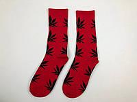 Носки HUF Plantilife - высокие - красные черный лист