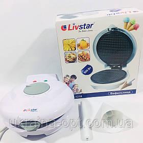 Вафельница Livstar LSU-1218 + конус для мороженого