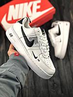 Мужские кроссовки Nike Air ForceWhite\Чоловічі кросівки Найк Афр Форс Білі\НА\айк Аир Форс Белые
