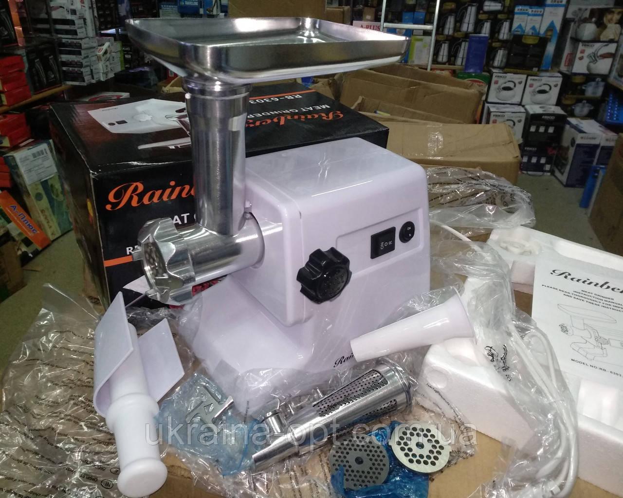 Электромясорубка + соковыжималка Rainberg RB-6303 (реверс) 2200W