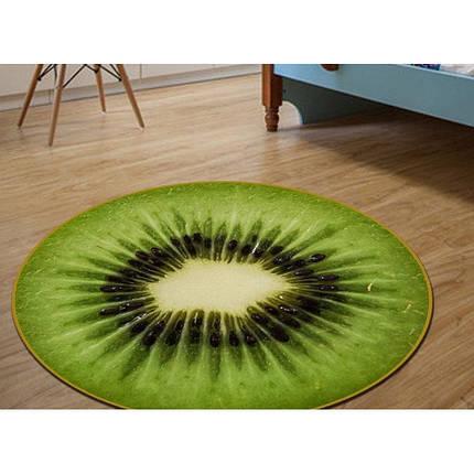 3d коврик безворсовый для дома 80 х 80 см - Киви, фото 2