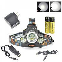 Налобний акумуляторний ліхтар Police RJ-3000 ліхтарик на лоб, фото 2