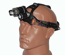 Налобний акумуляторний ліхтар Police RJ-3000 ліхтарик на лоб, фото 3