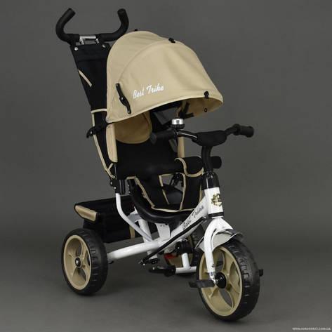 Велосипед 6570 3-х колёсный Best Trike (1) БЕЖЕВЫЙ, переднее колесо 12 дюймов d=28см, заднее 10 дюймов d=24см, ПЕНА , фото 2