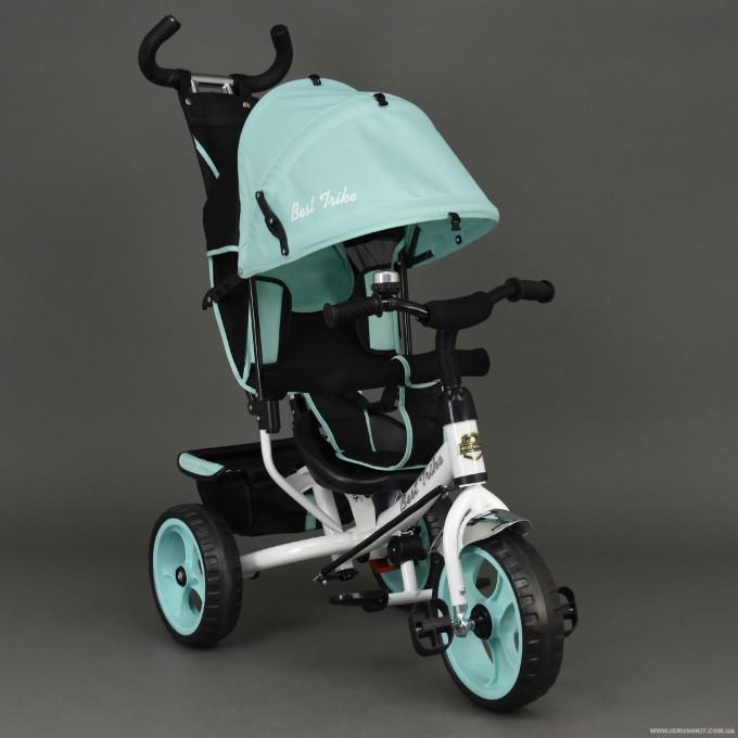 Велосипед 6570 3-х колёсный Best Trike (1) БИРЮЗА, переднее колесо 12 дюймов d=28см, заднее 10 дюймов d=24см, ПЕНА