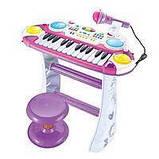 Детский синтезатор с подставкой и стульчиком. Микрофон. Мелодии. Функция записи звука и прослушивания. 7235, фото 2