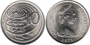 Ayman Is Кайманы Каймановы о - 10  Cents 2008 UNC