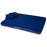 Надувной матрас. 203х152х22 см. С  подушками и насосом. Intex 68765 , фото 4