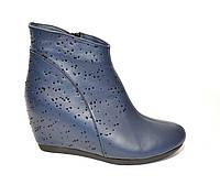 """Синие кожаные ботинки демисезонные. ТМ """"Maestro"""", фото 1"""