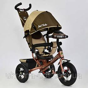 Трехколесный велосипед  7700 В - 6450 Best Trike ШОКОЛАДНО-БЕЖЕВЫЙ
