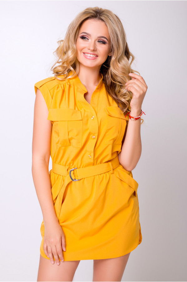 Платье-рубашка мини с 42 по 50 размер