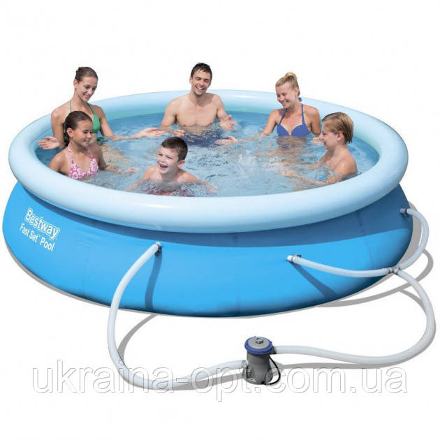 Надувной бассейн с насосом и фильтром. Размер 305 см. Высота 76 см.  Bestway 57270