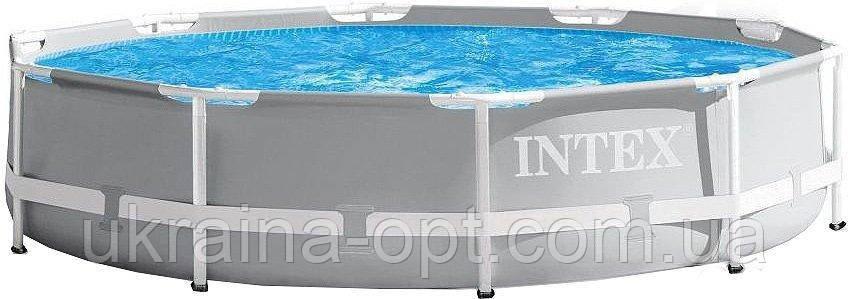 Каркасный бассейн. Диаметр 305. Высота 76 см. 2 слоя ПВХ и слой стекло-волоконной сетки Intex 26700