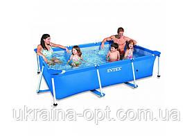 Детский каркасный бассейн. Размер 220х150х60. 3-х слойный. 28270 intex