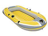 Надувная 2-х местная виниловая лодка. Размер 234х135 см. Нагрузка 190 кг. Bestway 61083 Hydro Force, фото 2
