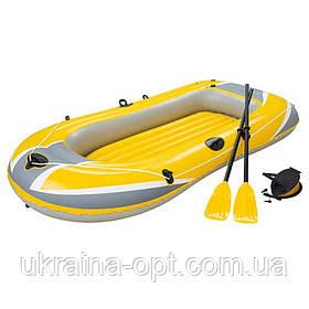 Надувная 2-х местная лодка с веслами и насосом. Размер 234х135.  Bestway 61064 Hydro - Force Raft