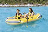 Надувная 2-х местная лодка с веслами и насосом. Размер 234х135.  Bestway 61064 Hydro - Force Raft, фото 9