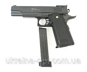 Пистолет. Калибр 6.0 мм. Скорость выстрела 60-69м/с Galaxy G.6+
