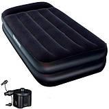 Надувная кровать. 198х99х46 см. Электронасос. Сумка-чехол. Нагрузка до 136 кг. BestWay 67401, фото 2