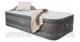Надувная кровать. 191х99х46 см. Электронасос 220В. Нагрузка 136 кг. intex 64482
