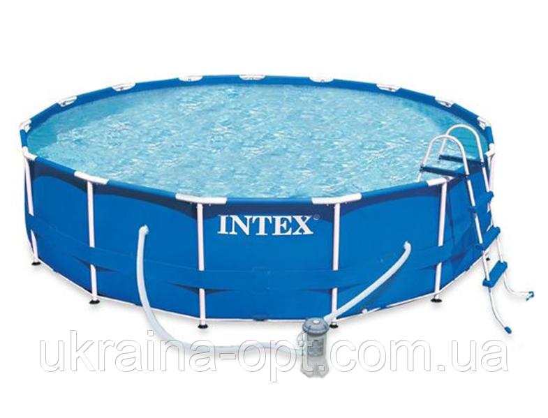 Каркасный бассейн. Диаметр 457х84 см. intex 28240