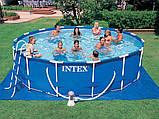Каркасный бассейн. Диаметр 457х84 см. intex 28240, фото 3