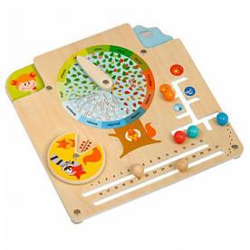 """Деревянный развивающий Бизиборд Календарь природы для детей от 3 лет ТМ """"Игрушки из дерева"""" Д441"""