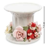 Подсвечник фарфоровый Мышка с цветами Pavone CMS-62/ 2
