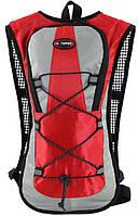 Велосипедный рюкзак Hotspeed 7027-41 4,35 л серый красным