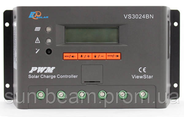 Контроллер заряда EPSOLAR VS3024BN, 30А,12/24В