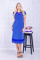 Платье большого размера в горох (54-66), красивое