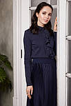 2278 блуза Лорет, темно-синий (46), фото 4