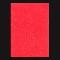 Набір Фетр м'який з гліт., червоний, 21 * 30см (10л)) Santi