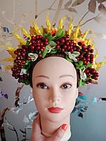 """Авторский кокошник на обруче для волос """"Украинский: с колосками"""", фото 1"""