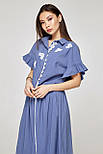 2318 платье Флор, голубой (S), фото 3