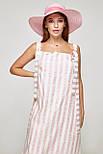 2320 платье Веер, полоска розовый (S), фото 3