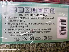 Набор ковриков для ванной и туалета Макароны Лапша Салатовый, фото 2