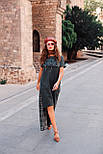 2331 платье Авангард, зеленый (S), фото 3