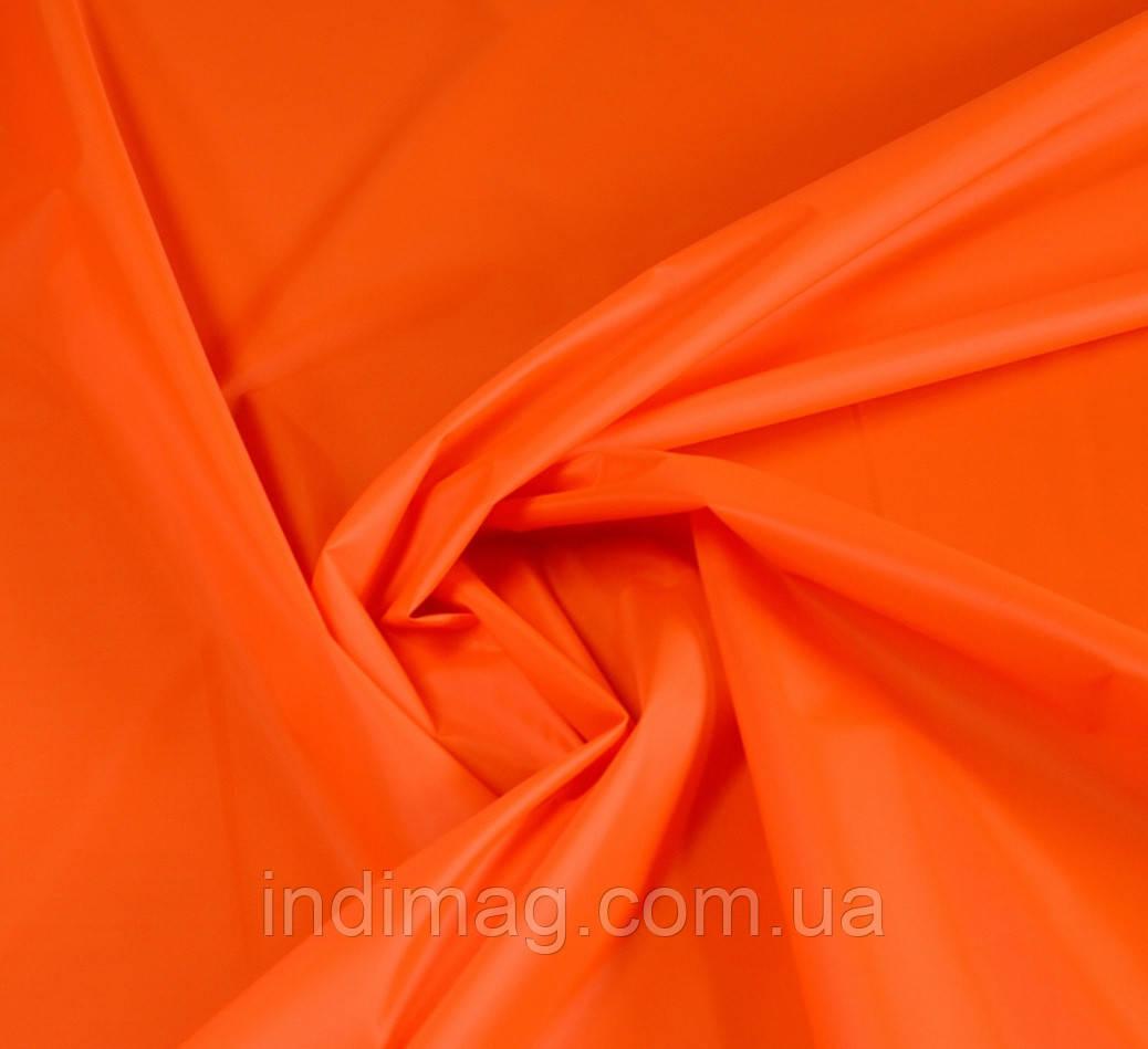 Отрез ткани болонь оранжевый. 10 метров