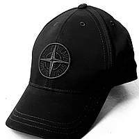 """Реплика в хорошем исполнении! Легендарная кепка """"Stone Island"""".Wool Mix Compass Logo Embroidered Black."""