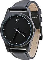 Наручные часы ZIZ Black на кожаном ремешке + доп. ремешок + подарочная коробка (BZ-4100141)
