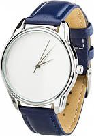 """Наручные часы ZIZ """"Минимализм"""" (ремешок синий, серебро) + дополнительный ремешок (4600167)"""