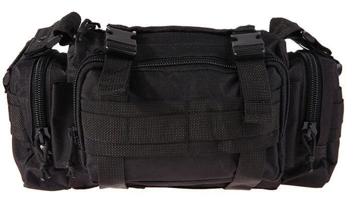 Тактична універсальна (поясна, наплічна) сумка Silver Knight з системою M. O. L. L. E Black (105)