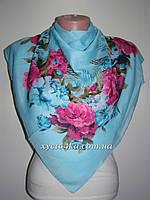 Лёгкий платок на натуральной основе Метис, бирюза