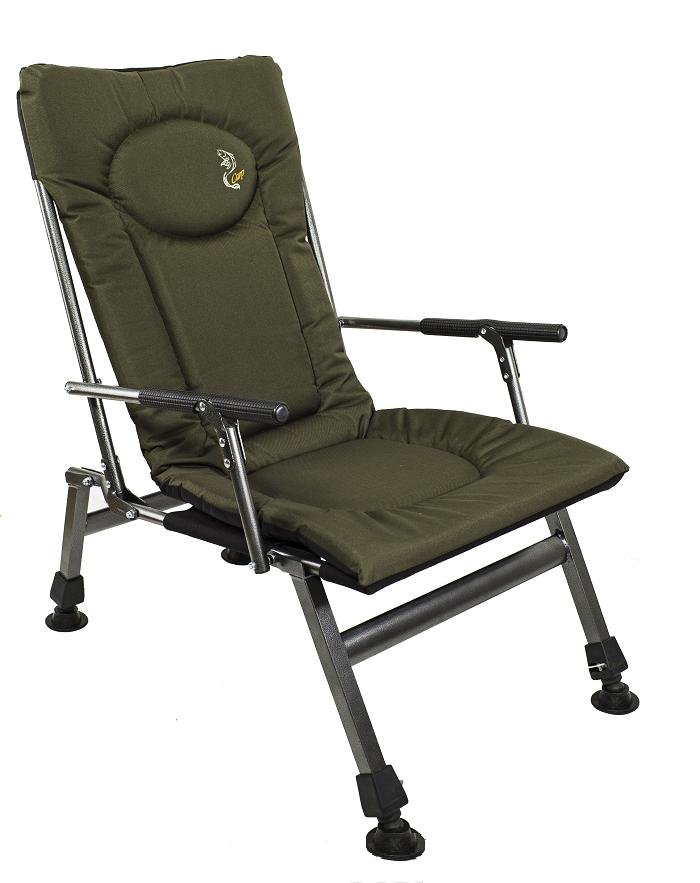 Карповое кресло Elektrostatyk с подлокотниками (нагрузка до 110 кг) (F8R)